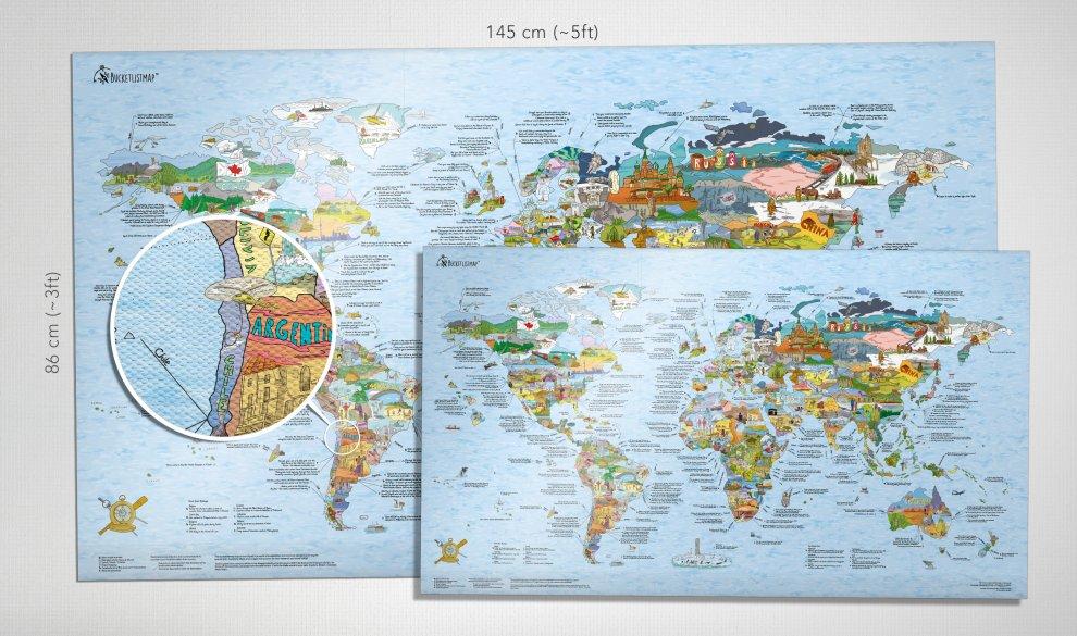 Travel Map XXL Leinwand