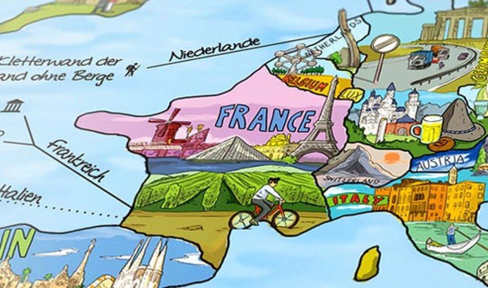 Travel Map Wiederbeschreibbar