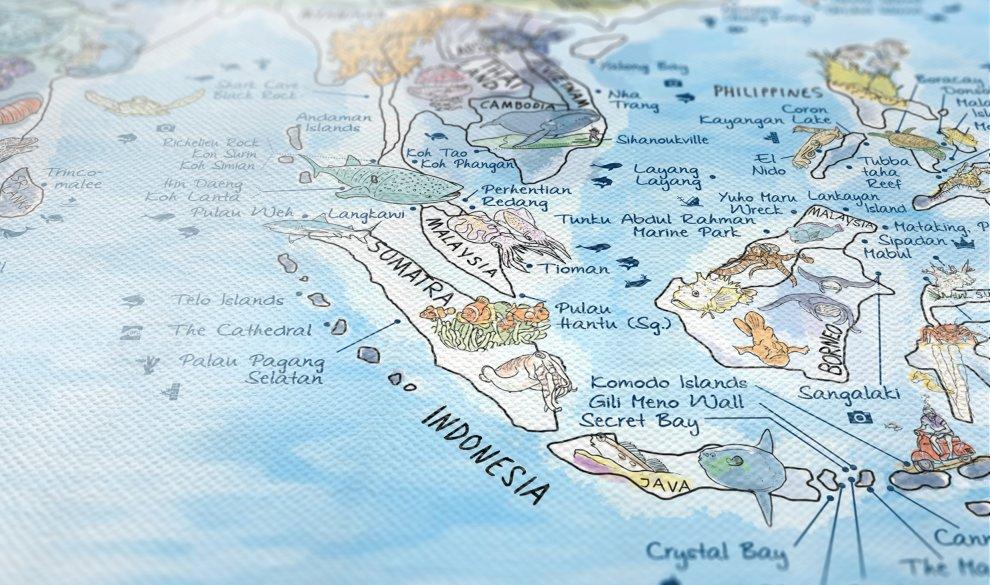 Dive Map XXL Canvas
