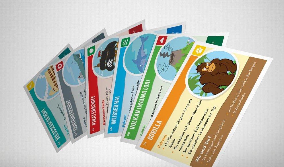 Kids Map mit Sticker-Set und Spielkarten