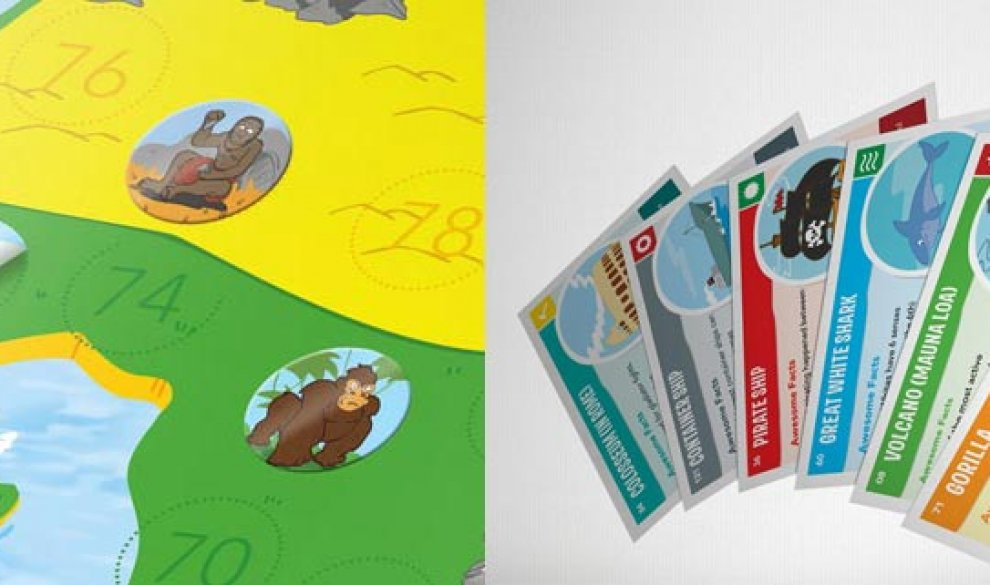 Kids Map with Sticker-Set and Playing Cards