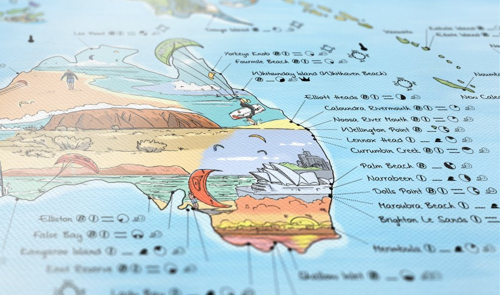 Map of world parallel map of world equator map of world kitesurf map illustrated world map with the best kitesurfing on map of gumiabroncs Choice Image