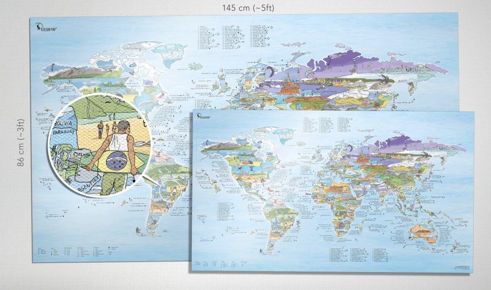 Kitesurf Map Canvas