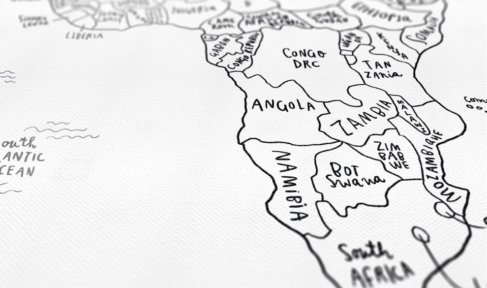Sketch map typography design world map sketch map canvas gumiabroncs Image collections