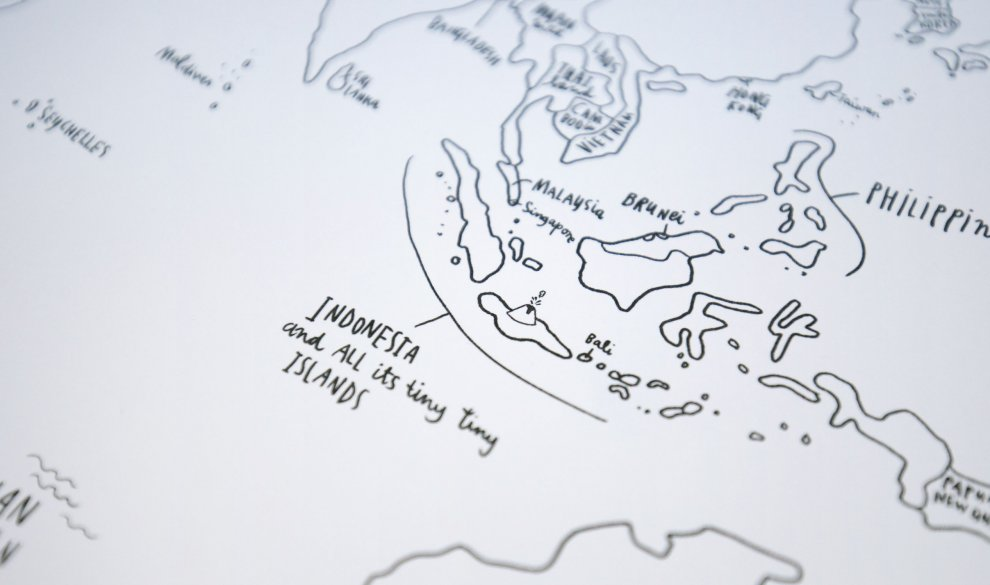 Sketch Map Leinwand