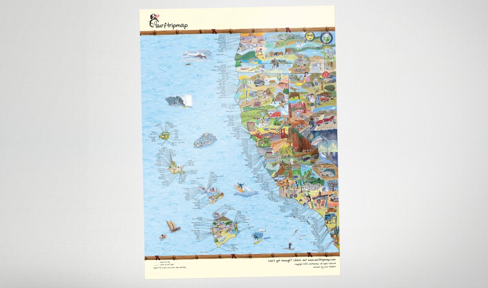 West Coast Map Canvas